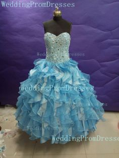 Pretty Ball Gown Prom Dresses/Blue Prom by WeddingPromDresses, $199.00