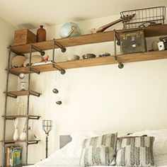 industrial pipe shelving closet - Google Search