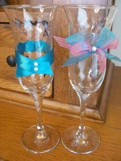champagne glass decoration