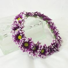 Purple daisy halo for the flower girl.