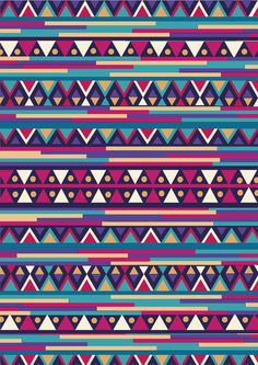 Aztec art print. #aztec #tribal #native #wallpaper #background #iphone