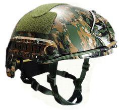 Camo Kevlar Helmet AOR1 ACU MC NIJ IIIA 3A FAST Kevlar Bulletproof Helmet Woodland Digital Ballistic Bullet Proof Helmet
