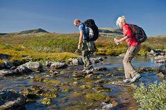 Wandern und Backpack