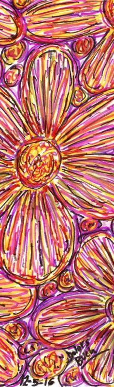 Flors ratllades cinc  12-5-16  permanents retoladors punt s Dolors Buch Castañer