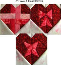 "Have-A-Heart Block Designs In A 6"" size from Carol Doaks website. She has other cute paper pieced blocks on her site"