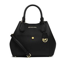 cb45e2b206431a Michael Kors Greenwich Saffiano Leather Large Black Satchels Sale For  People In Cheap, Come To Buyone In Big Discount.