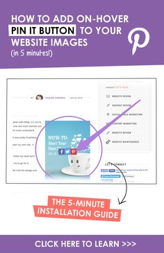 Grow your social media shares & website traffic with on-hover social buttons on your images. Here's a tutorial on: How To Add On-Hover Pint It Button To Your Website Images. Click the PIN to learn.