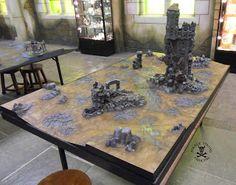 Pirate Viking Painting: Gaming Table Showcase