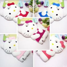 Cute 3D Cartoon Cat Silicone Soft Case Cover for Samsung Galaxy Note 2 II N7100 (Color Optional)