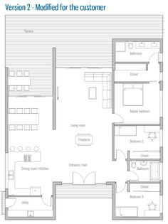 cottage layout without the master bath and closet