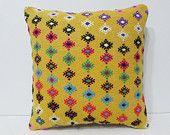 knit pillow cover 18x18 art pillow cover ethnic fabric pillow tuscan decor bohemian pillow cover modern home decor retro cushion cover 23646