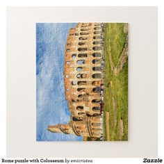 Rome puzzle with Colosseum