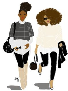 Afro European Minimalist Style by Nikisgroove on Etsy