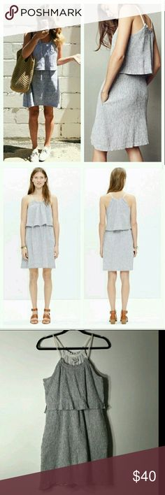 Pretty gray madewell overlay dress Worn amd washed once. No flaws. Reasonable offers considered only Madewell Dresses Midi