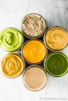 These 7 Staple Sauces will become your daily favorites. They are all mayo-free sauces, easy to make, and so delicious. These 7 Staple Sauces will become your daily favorites. They are all mayo-free sauces, eas. Dairy Free Sauces, Healthy Sauces, Dairy Free Recipes, Gluten Free, Healthy Recipes, Whole 30 Sauces, Secret Sauce Recipe, Sauce Au Curry, Dipping Sauces For Chicken