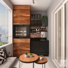 46 Inspiring Mini Bar Design Ideas On Your Apartment Balcony Design # Mini Bars, Balcony Bar, Balcony Design, Apartment Balcony Decorating, Apartment Balconies, Sweet Home, Home Bar Designs, Bars For Home, Home And Living
