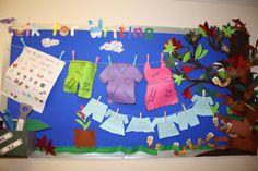 Talk for Writing English corridor display.