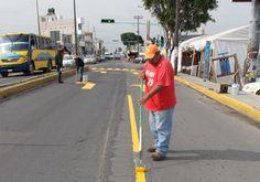 Baliza Vialidad y Tránsito Zacatelco carretera Puebla-Tlaxcala