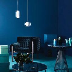 New. Work. Moody Blues. Shot for @reallivingmag  Styling @sarah_ellison_stylist Photo Assistant & Retouching @sianfay Set build @b2studios #interior #stairwaytoheaven #ink  #brettstevens #economyclass #photography #canon #5dsr #broncolor #hardlight #colourblock #blue