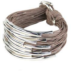 Gillian Julius sterling tube bracelet