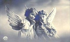 Vintage Postcard ~Sweet Angel Girls | Postcards from my coll… | Flickr