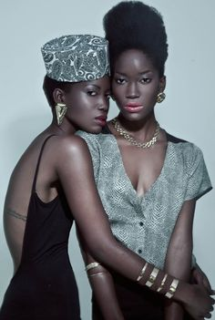 Tash and Cody Lee -- black, twin models, fashion stylists, designers, and actresses. Solis Magazine, Anrike Piel [Aug 2013]