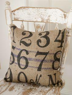 Burlap Numbers Pillow!  www.laurieannas.com