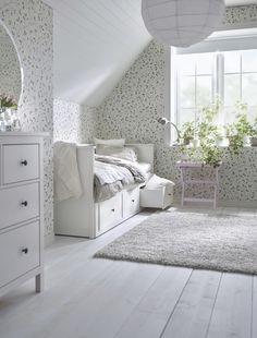 HEMNES Bedbank met 3 lades, wit