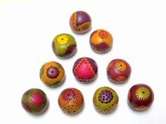 Hollow polymer clay beads by Orly Fuchs Galchen - endless fun - infinite possibilities.
