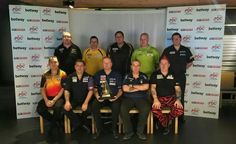 Teilnehmer der PDC Premier League 2015! S.Bunting, D.Chisnall, A.Lewis, M.vanGerwen, J.Wade, K.Huybrechts, G.Anderson, R.van Barneveld, P.Taylor, P.Wright