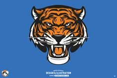 Vector Tiger Head For sale by olddirtydermot on Creative Market