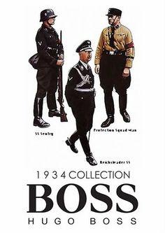 hugo boss advertises ss uniforms n 3rd Reich uniforms