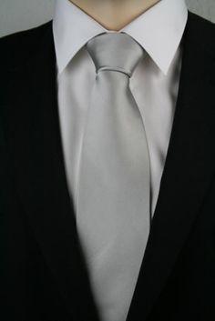 JD 2 Krawatte extralang Silber 160cm