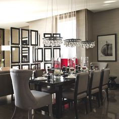 Dining room by Kelly Hoppen for yoo – Barkli Virgin House, Moscow