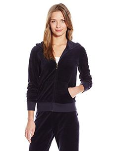 Juicy Couture Black Label Womens Logo Velour Seal Of Couture Orig Jacket ** Visit the image link more details. (This is an affiliate link) #TrackActiveJackets