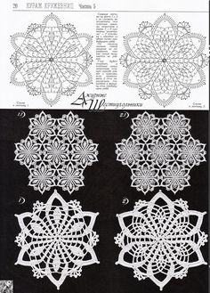 "diy_crafts-Needlework - unser Hobby ""Patterns and motifs: Crocheted motif no."", ""Two flower motifs"" Crochet Snowflake Pattern, Crochet Motif Patterns, Crochet Stars, Crochet Snowflakes, Thread Crochet, Filet Crochet, Irish Crochet, Crochet Tablecloth, Crochet Doilies"