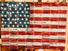 Veteran's Day art project. Over 500 students wrote a special thank you note to a veteran.
