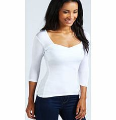 boohoo Jenny Sweetheart Neck Longline Top - white Every wardrobe should be filled with a variety of day tops for all occasions. For the daytime, choose basic jersey tops, printed tees and denim shirts, teamed with a pair of skinny jeans for a casual  http://www.comparestoreprices.co.uk/womens-clothes/boohoo-jenny-sweetheart-neck-longline-top--white.asp