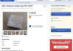 Screenshot of soap for sale  Photo By: MARKTPLAATS