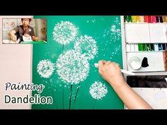 Toilet Paper Rolls Dandelion Painting Technique for Beginners ♡ Maremi's Small Art ♡ - YouTube