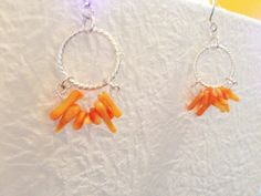 A personal favorite from my Etsy shop https://www.etsy.com/listing/232088004/orange-coral-earrings-beach-jewelry