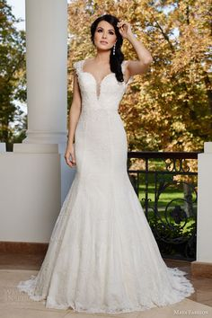 maya fashion 2015 limited bridal collection e11 cap sleeve lace trumpet mermaid wedding dress split sweetheart neckline