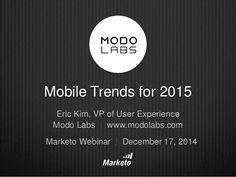 Mobile Trends in 2015 by Marketo via slideshare