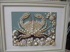 Vintage Jewelry Crafts Have a broken necklace or fashion jewelry that you no longer wear? Turn the jewels into artwork! This is so beautiful. - Trash to Treasure Re-Purposing Hacks - DIY ideas for creating something new out of something old. Costume Jewelry Crafts, Vintage Jewelry Crafts, Recycled Jewelry, Vintage Costume Jewelry, Vintage Costumes, Vintage Clothing, Seashell Crafts, Beach Crafts, Diy Crafts