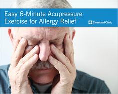 Relieve your #allergy and #sinus pressure in just 6 minutes. #acupressure