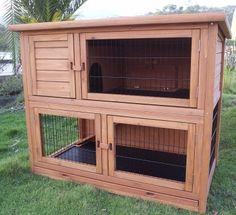 Sturdy Double Story Rabbit Hutch - £150.95