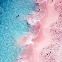 Pink to make the girls wink! How gorgeous is this beach?! Yes please #bikiniclique #beach #noairconditioning