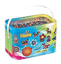 Hama Hamma Hammer Beads 10000 Beads In A Bucket Pastel Mix Creative Designs Toys Uk, Buy Toys, Toy Craft, Craft Kits, Blaze Monster Machine, Play Doh Kitchen, Wooden Toy Kitchen, Modele Pixel Art, Pink
