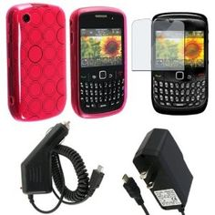 Clear Pink TPU Circle Flexi Rubber Skin + Wall + Car Charger + Lcd Protector For Blackberry 8530 (Electronics)  http://www.amazon.com/dp/B00370XCDW/?tag=goandtalk-20  B00370XCDW