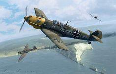 Horrido Bf109 E4 flown by Major Helmut Wick, Kommodore  JG2, 28th November 1940
